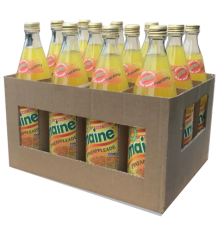 12 returnable glass bottles of Maine Pineappleade