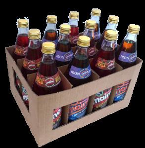 A taste of Scotland, 6 glass bottles of Maine Iron Brew & 6 Maine Scottish Kola