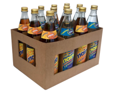 A case of 6 glass bottles of Maine Brown Lemonade & 6 glass bottles of Maine White Lemonade